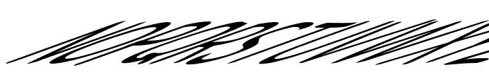 Snowfall Ultra Oblique Font UPPERCASE