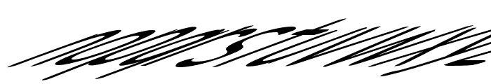 Snowfall Ultra Oblique Font LOWERCASE