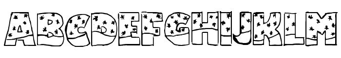 Snowfall Font UPPERCASE