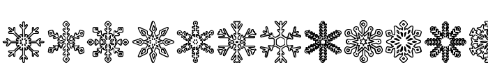 Snowflakes St Font UPPERCASE