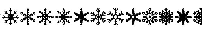 Snowflakes St Font LOWERCASE