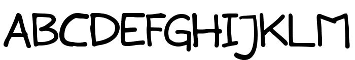 Snowlatte Font UPPERCASE