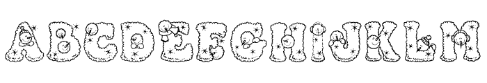 Snowpersons Font LOWERCASE
