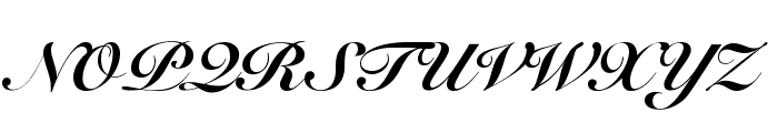 Snell Roundhand Black Font UPPERCASE