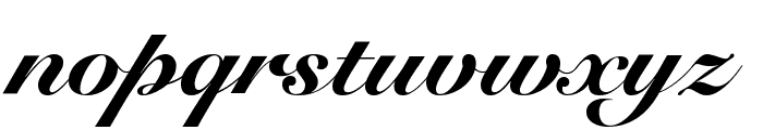 Snell Roundhand Black Font LOWERCASE