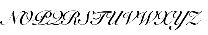 Snell Roundhand Bold Font UPPERCASE