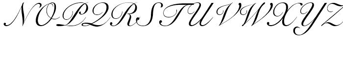 Snell Roundhand Regular Font UPPERCASE