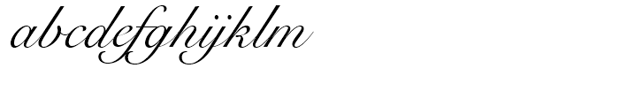 Snell Roundhand Regular Font LOWERCASE