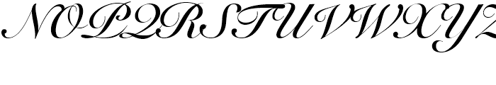 Snell Roundhand Script Bold Font UPPERCASE