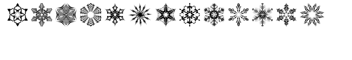Snow Crystals 2 Font UPPERCASE