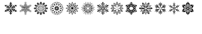 Snow Crystals 2 Font LOWERCASE