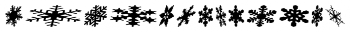 Snowflakes Falling Regular Font UPPERCASE