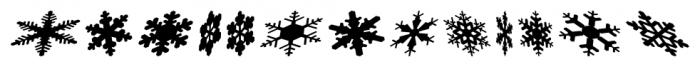 Snowflakes Falling Regular Font LOWERCASE