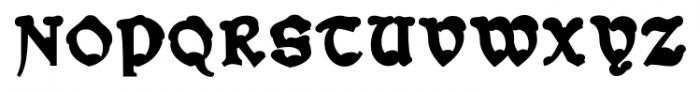 Snowgoose Back Font UPPERCASE