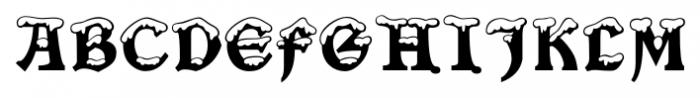 Snowgoose Regular Font UPPERCASE