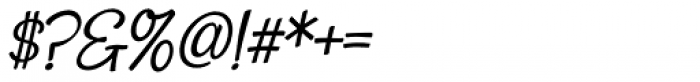Snackbar Italic Font OTHER CHARS