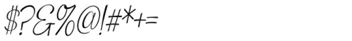 Snackbar Skinny Light Italic Font OTHER CHARS