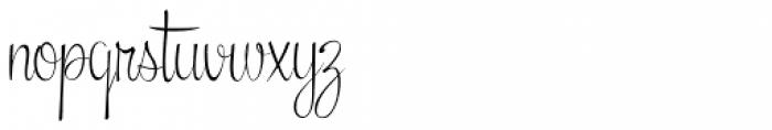 Snackbar Skinny Light Font LOWERCASE