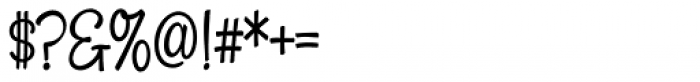 Snackbar Skinny Font OTHER CHARS