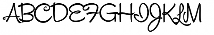 Snackbar Skinny Font UPPERCASE