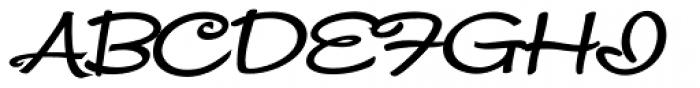 Snackbar Wide Bold Italic Font UPPERCASE