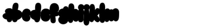 Snacker Comic Outline Font LOWERCASE