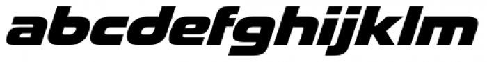 Snasm Heavy Italic Font LOWERCASE
