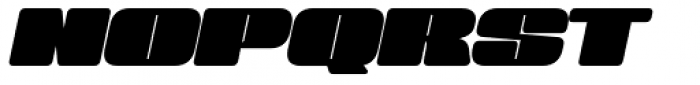Sneakers Max 200 Black Oblique Font UPPERCASE