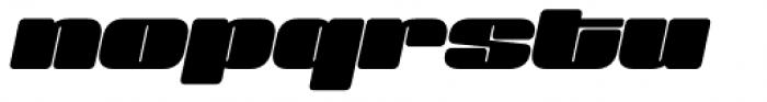 Sneakers Max 200 Black Oblique Font LOWERCASE