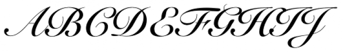 Snell Roundhand Bold Script Font UPPERCASE