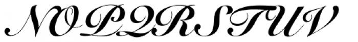 Snell Roundhand LT Std Black Script Font UPPERCASE