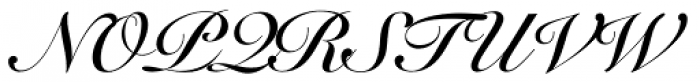 Snell Roundhand LT Std Bold Script Font UPPERCASE