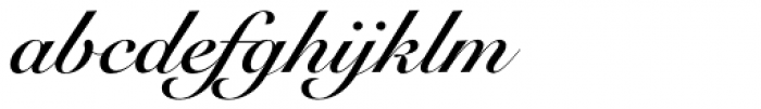 Snell Roundhand LT Std Bold Script Font LOWERCASE
