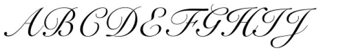 Snell Roundhand LT Std Script Font UPPERCASE