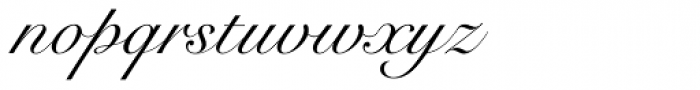 Snell Roundhand LT Std Script Font LOWERCASE