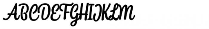 Snooker Script Medium Font UPPERCASE