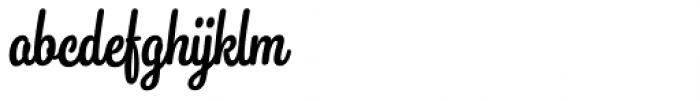 Snooker Script Medium Font LOWERCASE