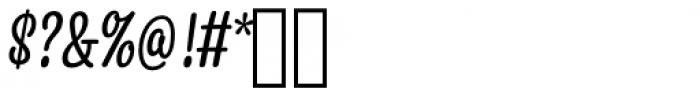 Snooker Script Regular Font OTHER CHARS