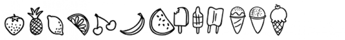 Snow Cone Pro Doodle Font LOWERCASE