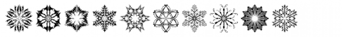 Snow Crystals 2 Font OTHER CHARS
