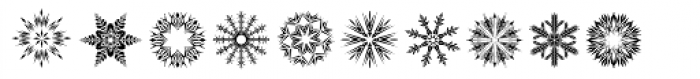 Snow Crystals Font LOWERCASE