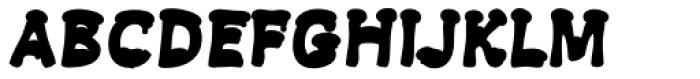 Snowa Back Font LOWERCASE