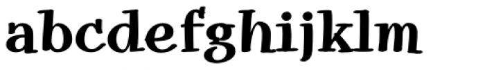 Snowbird Bold Font LOWERCASE