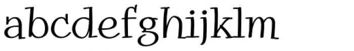 Snowbird Regular Font LOWERCASE