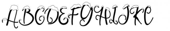 Snowby Regular Font UPPERCASE