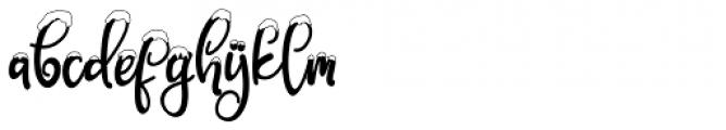 Snowby Regular Font LOWERCASE
