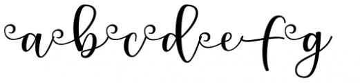 Snowdrop Swirls Font UPPERCASE