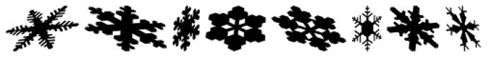 Snowflakes Falling Font UPPERCASE