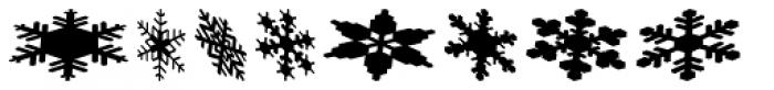 Snowflakes Falling Font LOWERCASE
