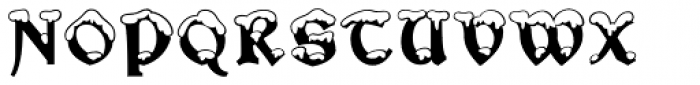 Snowgoose Font UPPERCASE